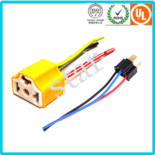 Automotive Light Wire Harness Adapter H4 Ceramic Connector