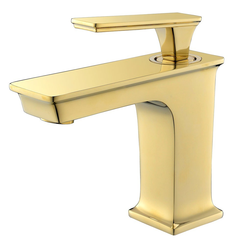 Chrome Color with Marble Decorate Basin Faucet