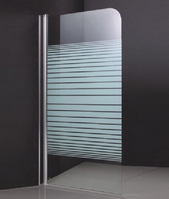 Stripe Glass Bath Screen for Bathtub (ADL-K4)