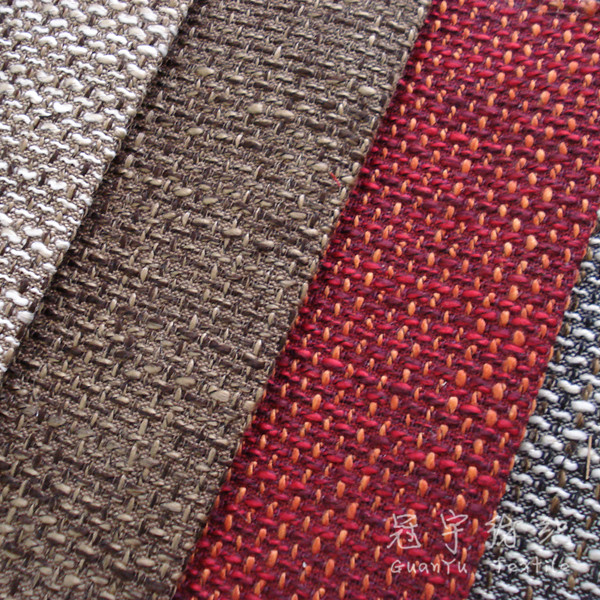 100% Polyester Dimity Linen Fabric for Home Textile Sofa
