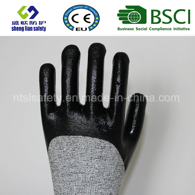 Cut Resistant Safety Work Glove with 3/4 Nitrile Coated Safety Gloves