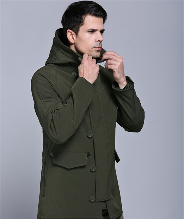 Outdoor Mens Shark Skin Softshell Military Waterproof Tactical Army Windbreaker