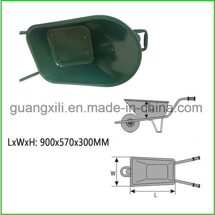 Garden Metal Wheel Barrow Galvanized Tray Wheelbarrow for Building Concrete Construction Garden