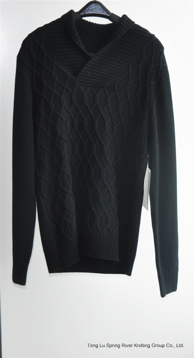 Winter Knit Turtleneck Man Pullover Sweater