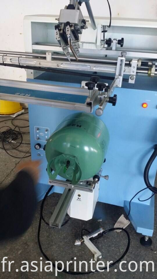 LPG gas cylinder screen Printing machine
