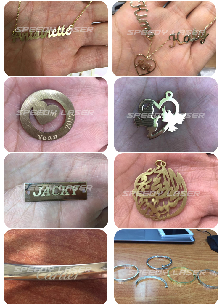 Gold Silver Rings Necklace Jewelry Laser Engraving Cutting Machine