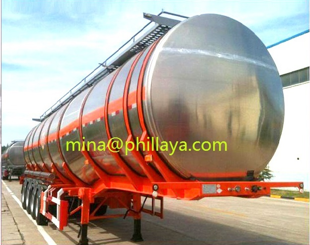 3axle Milk Water Liquid Food Transport Aluminum Tanker Semi Trailer