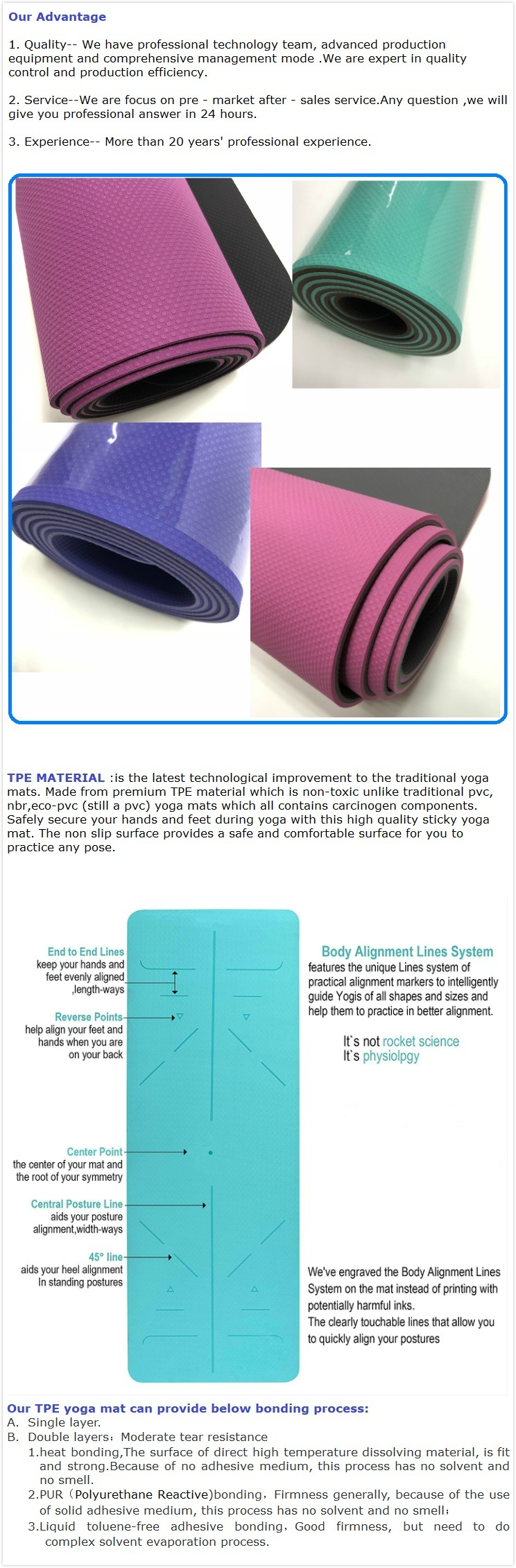 Professional Eco Friendly Yoga Mat Rubber Outdoor Yoga Mat