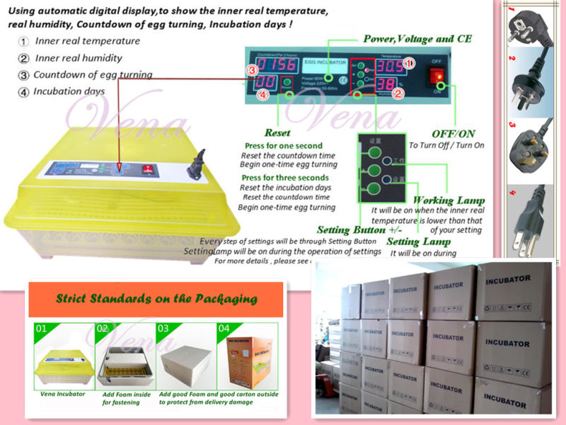 Va-48 Good Quality Best Price Factory Wholesale Family Use Commercial Mini Chicken Egg Incubator