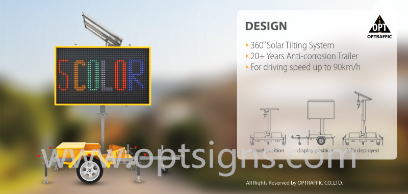2018 China Energy-Saving Programmable Sign Board with Trailer Ultra-Bright LED Vms