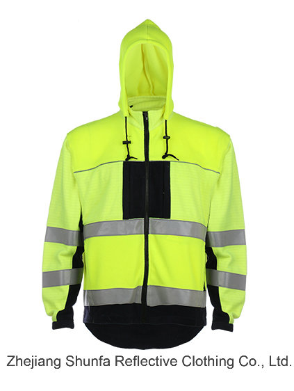 Hoodie Sweatshirt Fr High Visibility Reflective Sweartshirt Fireproof Material Swearshirt