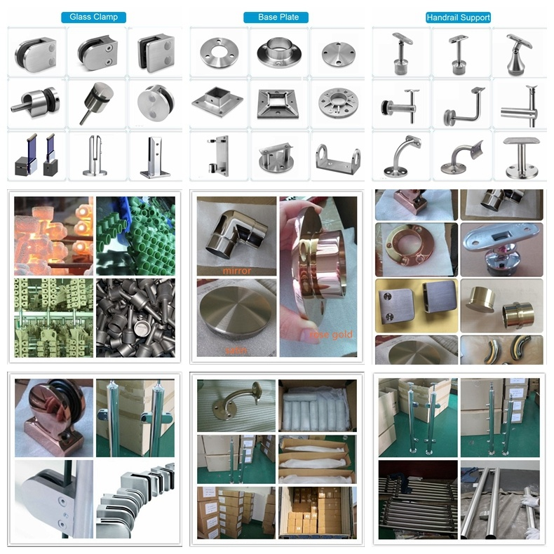 Stainless Steel Round Pipe Flange for Handrail Baluster