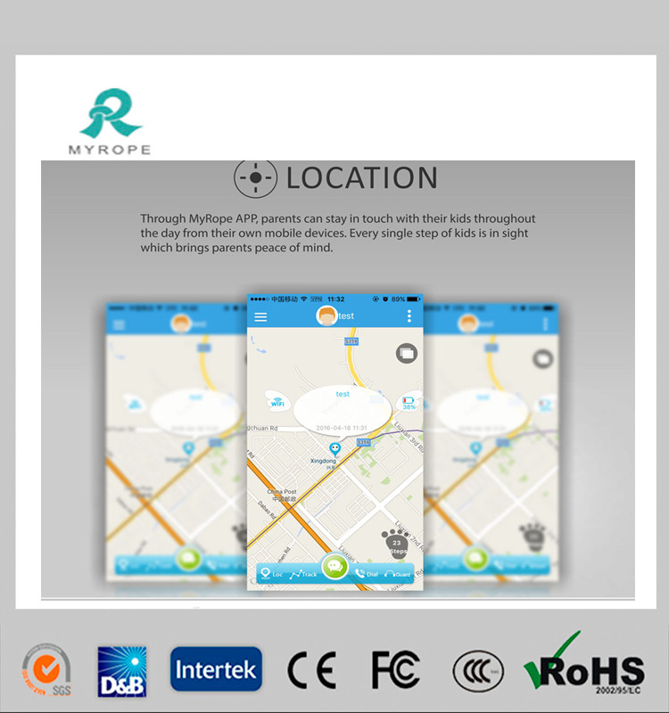 High Quality GPS GSM Watch Tracker with Ce, RoHS FCC Certificate
