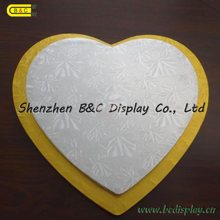 Mill Supplier Grey Board Cake Boards with Flower Edges with SGS (B&C-K074)