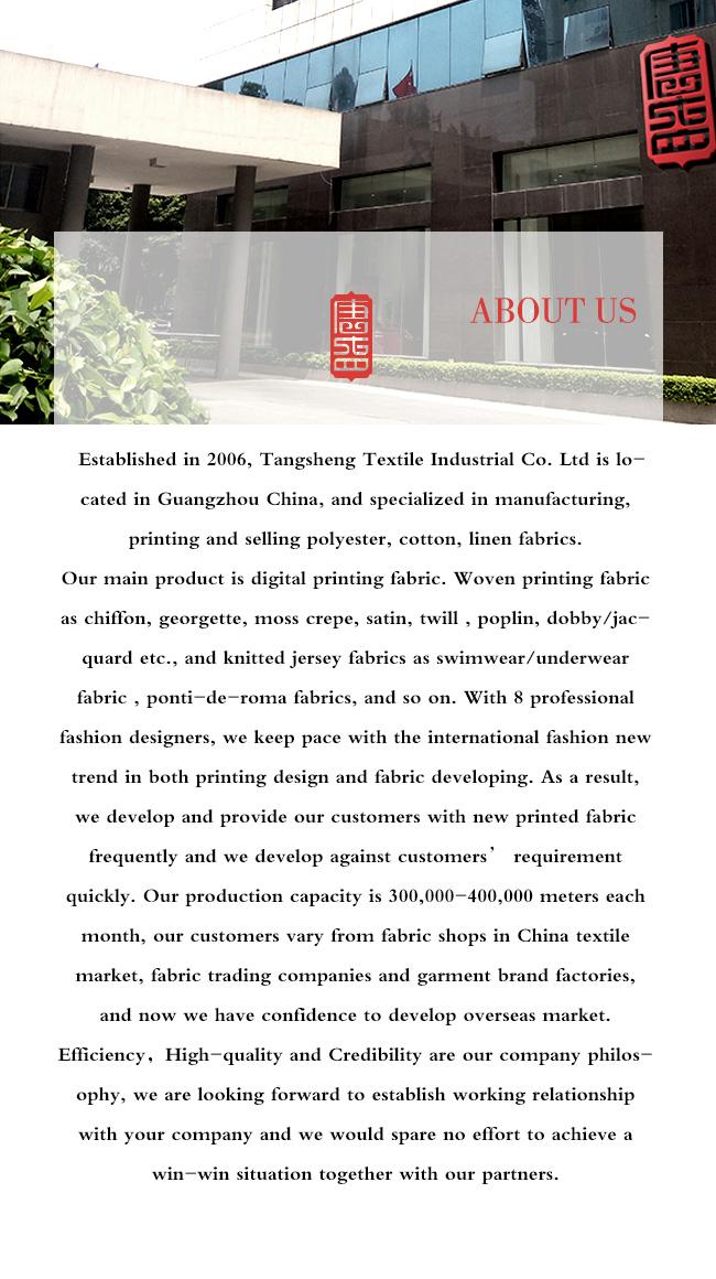 Beautiful Printing High Quality Polyester Silky Tencel Garment Fabric