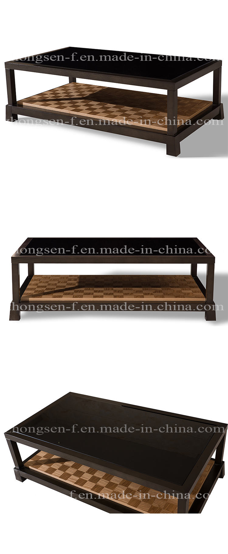 Modern Furniture Square Tea Table Wooden Coffee Table for Hotel
