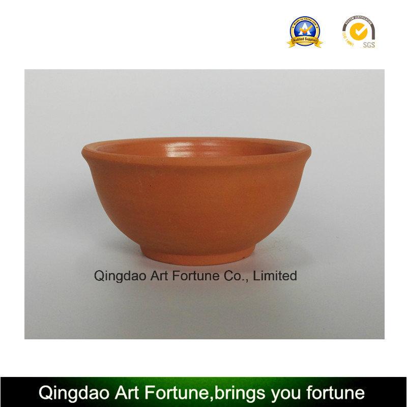 Outdoor-Natural Clay Ceramic Bowl-Medium
