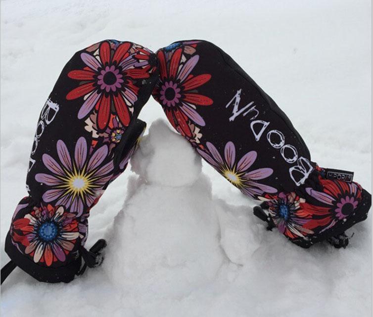 Expressive Knit Cuff Warmth Winter Outdoor Ski Mittens