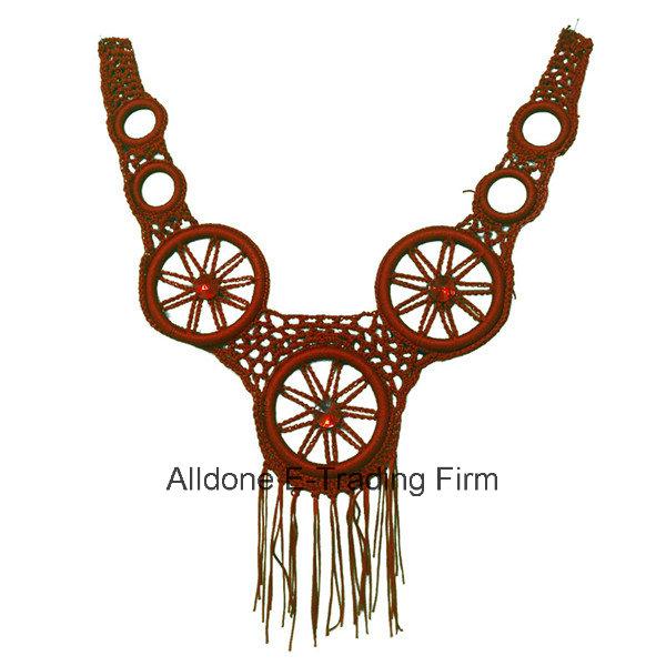 Real Hand Crochet Collars, Vintage Handmade Crocheted Collar