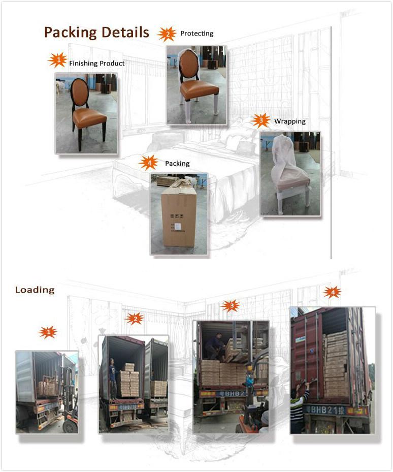Economic Simple Gold Teak Material Hotel Furniture