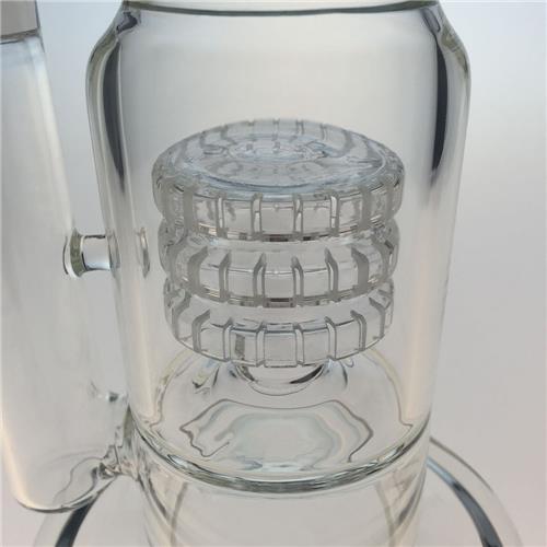 6 Arms Triple Matrix Hookah Glass Smoking Water Pipes (ES-GB-354)