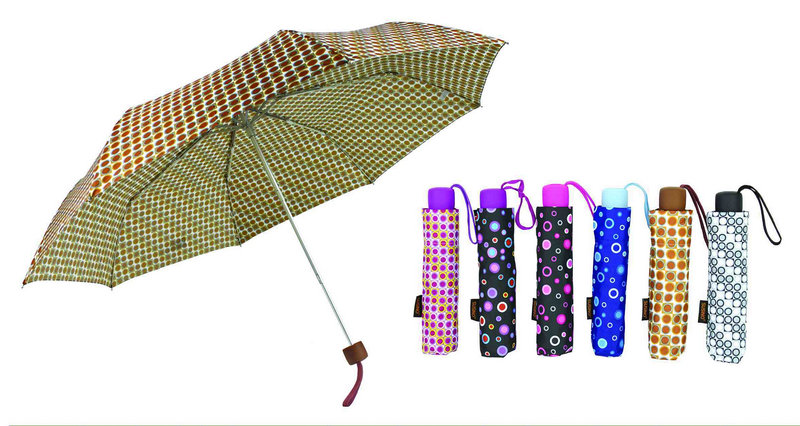 Pompon 3 Fold Manual Aluminium Light Umbrella (YS-3FM21083946R)
