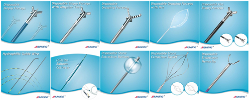 Disposable/Reusable Cleaning Brush for Chile Endoscopy