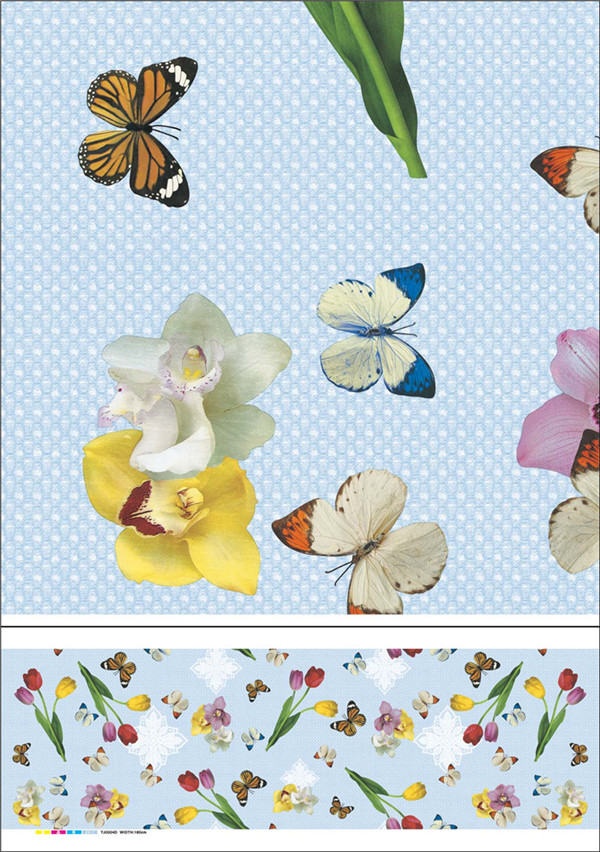 2016 Round White PVC Opaque Printed Tablecloth Factory Wholesale