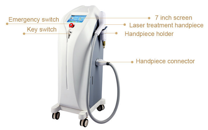 Long Pulse Tattoo Removal ND YAG Q-Switch Pigment Removal Machine