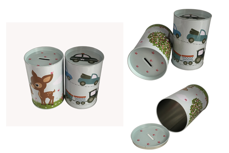 Wholesale Metal Piggy Bank Coin Box with Easy Open Lid