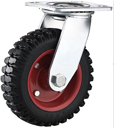 6 Inch Heavy Duty Artificial Rubber Swivel Industrial Caster Trolley Caster