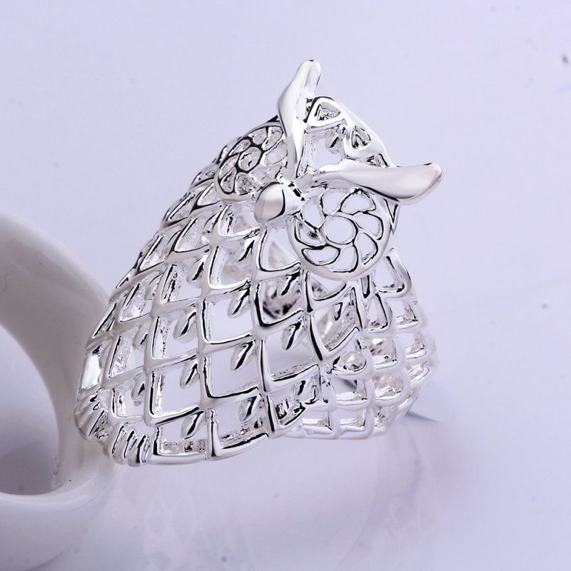 Classical Creative Hotsale in Europe Men and Women Rings Copper Jewelry Owl Shaple Popular Ring