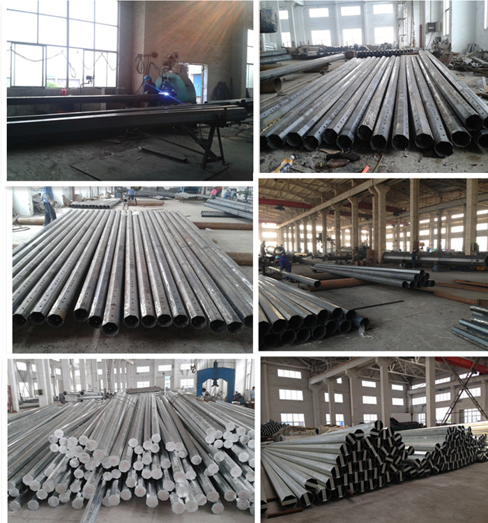 30m Galvanized Powder Coating High Mast Lighting Steel Pole