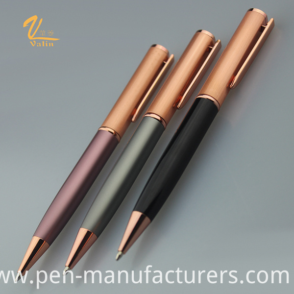 New Style High- End Metal Twist Ball Pen Ink Pen