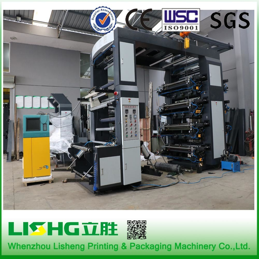 8 Color Stack Type High Speed Flexo Printing Machine