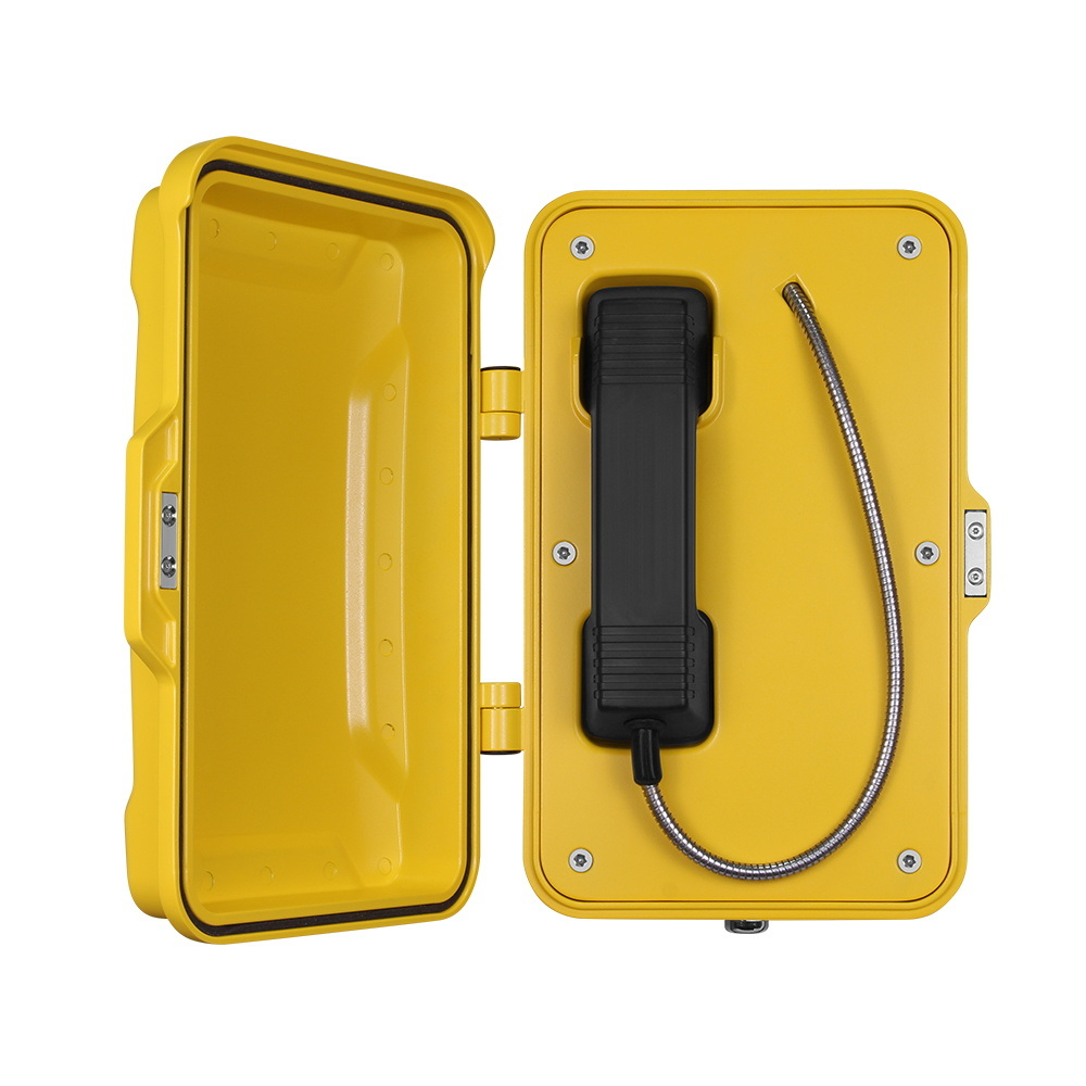Vandal Resistant Weatherproof Industrial Hotline Telephone, Rugged Ringdown Emergency Telephone