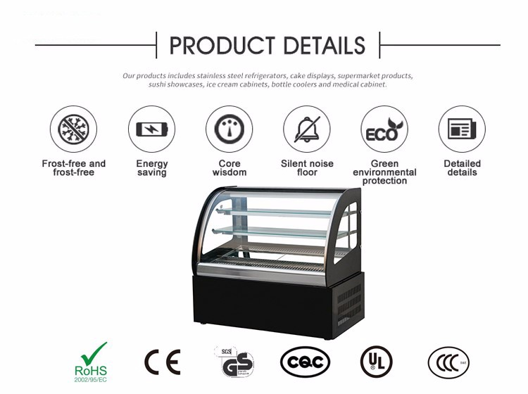 cake cabinet for bakery shop