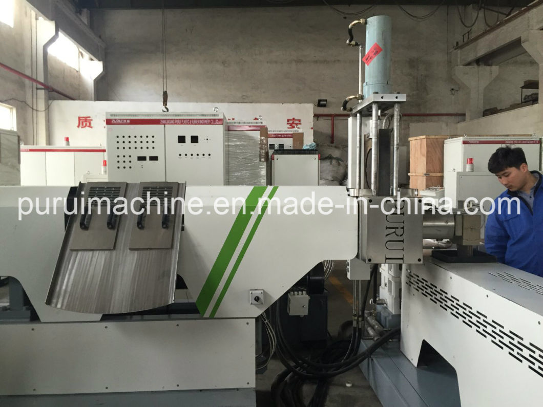 Single Screw Two Stage Plastic Extruder with Pulls Strap Cutter