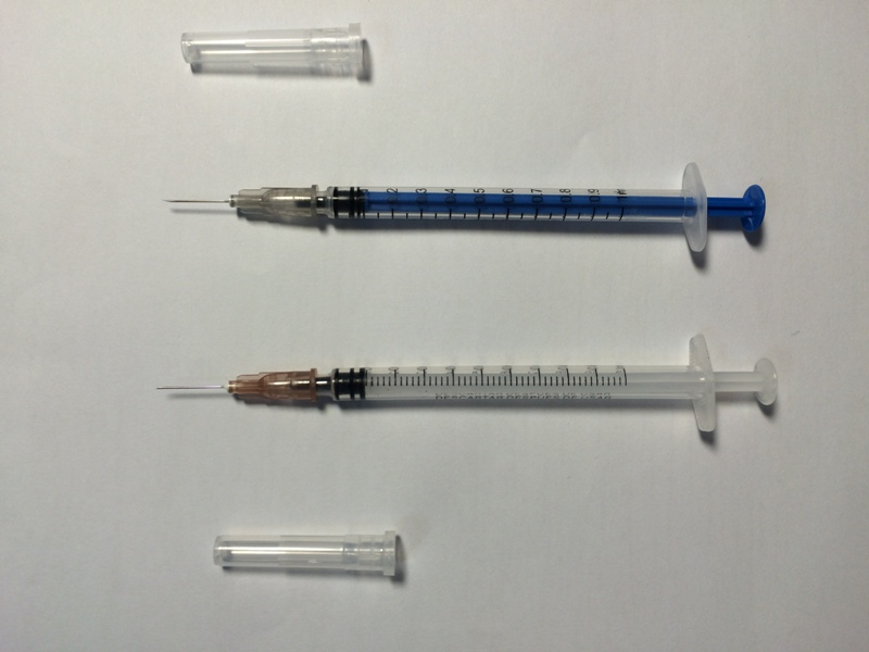 Disposable Medical Syringe 1cc for Injection
