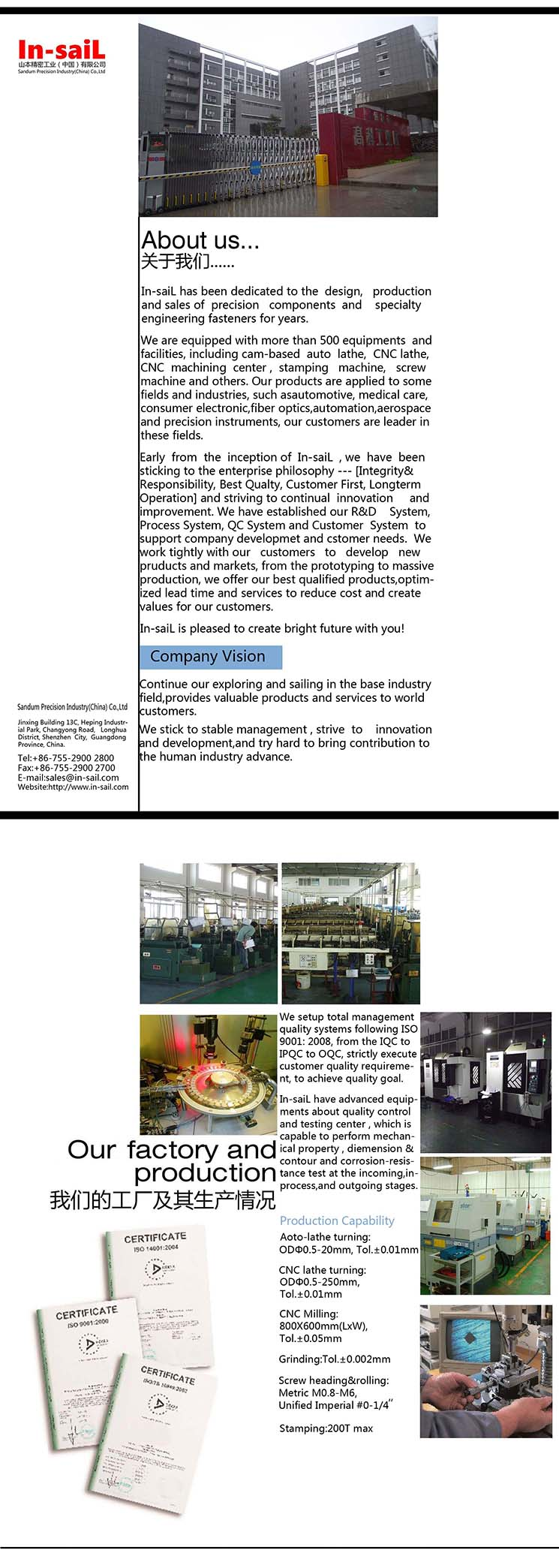 2016 Wholesale Knurled Aluminum Threaded Insert for Manufacturer