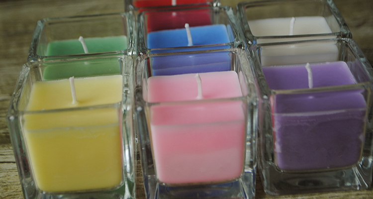 Scented multi color Candles