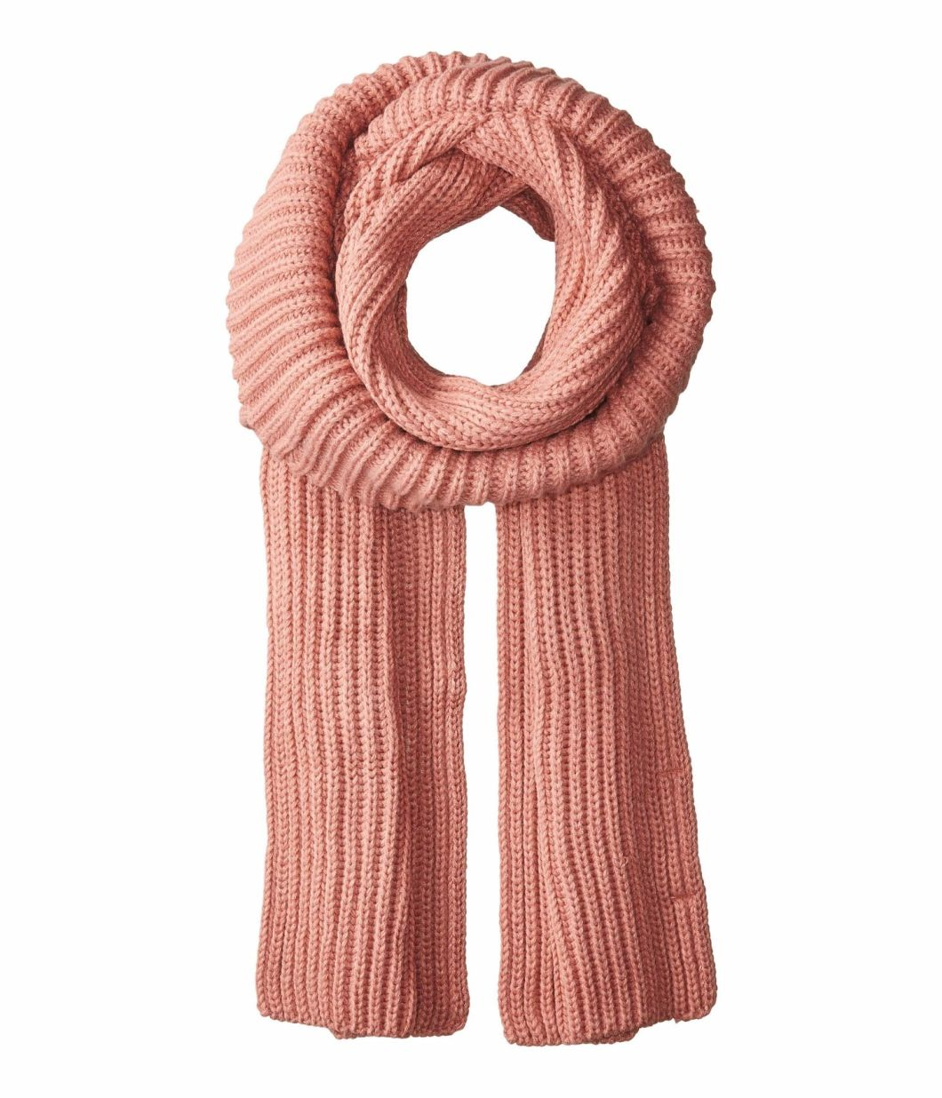 BSCI Audit 100% Acrylic Winter Warm Cable Mock Neck Ribbed Knit Scarf