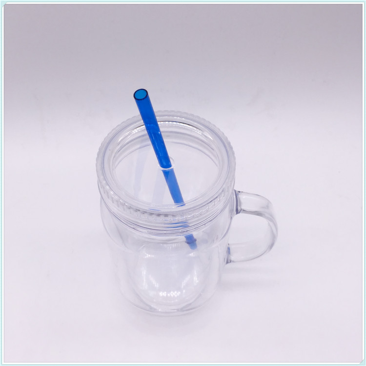 Hot Sale Plastic Starbucks Tumbler Cup with Straw (SH-PM38)