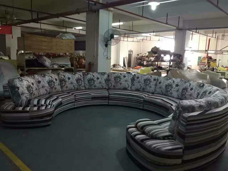 Big U Fabric Sofa, Salon Sofa Furniture, Modern Sofa (NG919)