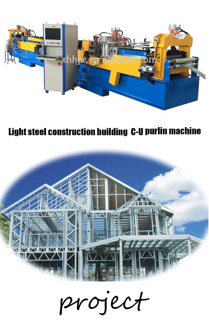 China Factory Supply Sheet Metal Roll Forming Machine Prefab House C U Steel Frame Forming Machine with Vertex Bd