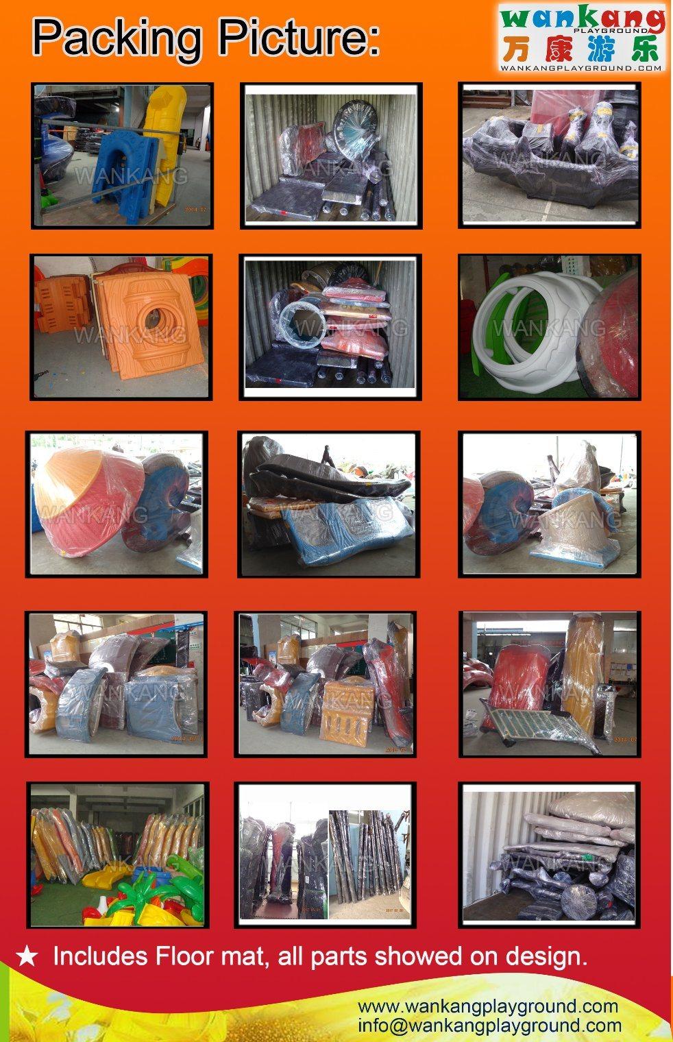 Luxury Outdoor Playground Kids Plastic Space Slide (WK-A180528)