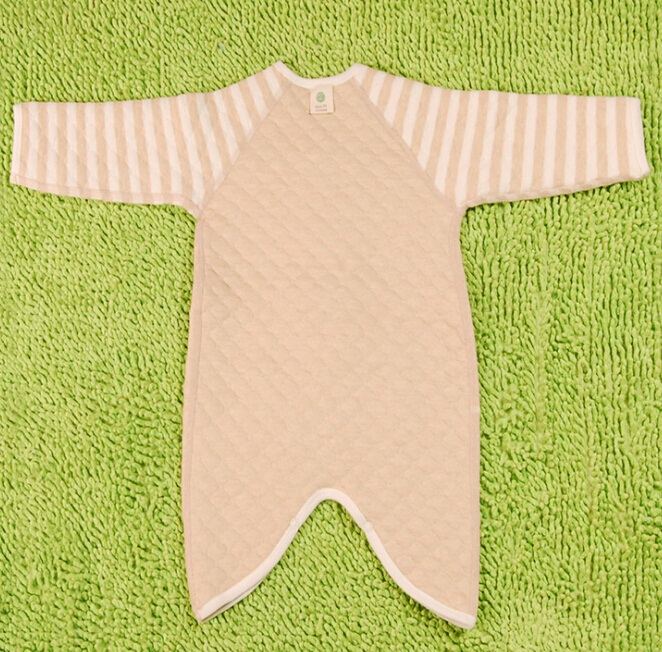 Organic Cotton Striped Baby Long Sleeve Winter Romper