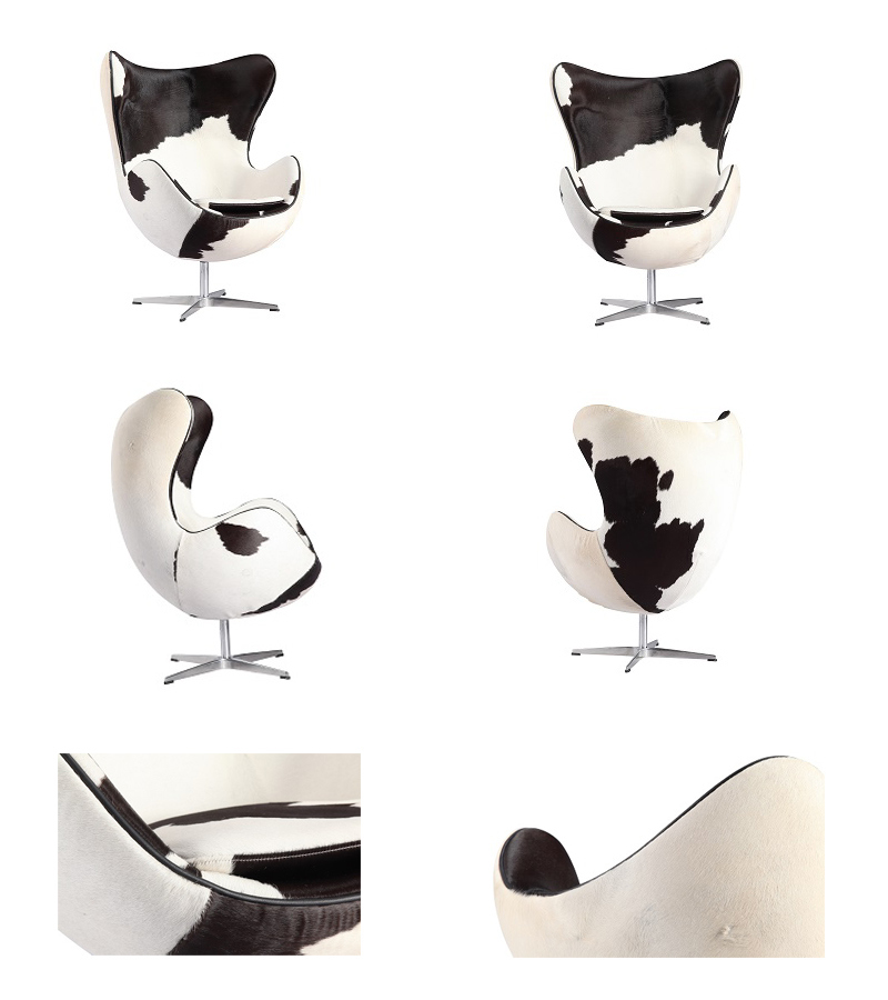 Leather New design Simple Stainless Steel Legs Living Room Fiberglass Leisure Chair-Yj122c