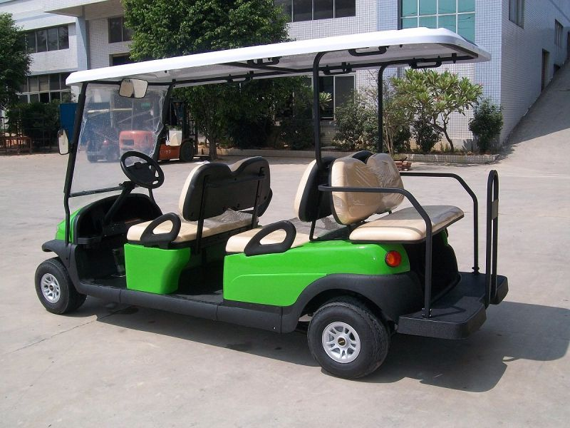 4 Front Seat Plus 2 Rear Seat Electric Vehicle Golf Cart