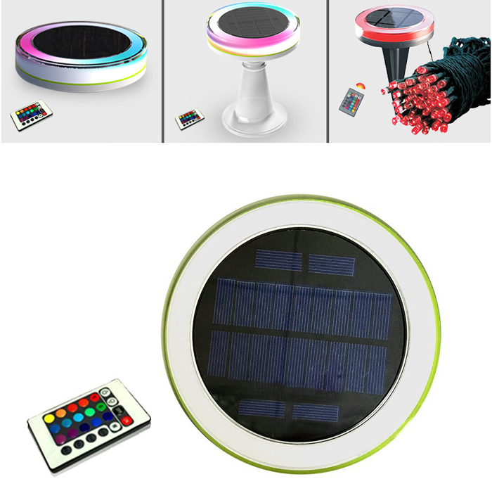 Color Changing Remote Control IP65 Waterproof Decorative Solar LED Light Solar Desk Light Restaurant Solar Table Lamp